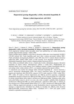 HBV - Česká hepatologická společnost