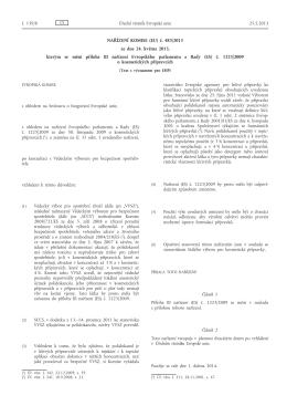 Nařízení Komise (EU) č. 483/2013 ze dne 24. května 2013, kterým
