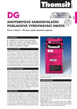 Thomsit DG Anhydritová samonivelační podlahová vyrovnávací hmota