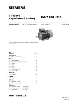3 fázové 1MJ7 220 - 313 asynchronní motory