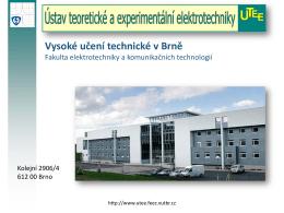 Nelineární prvky a obvody - UTEE