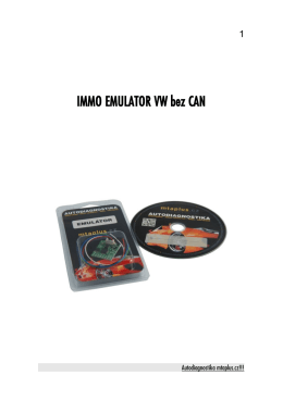 IMMO EMULATOR VW bez CAN