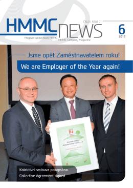 Firemní zpravodaj (ke stažení v pdf) číslo 71/Červen2014