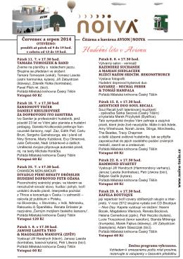 Program ke stažení - červenec, srpen 2014