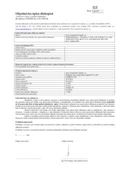 Objednávka úpisu dluhopisů listinné AAC II, 5%, 2017