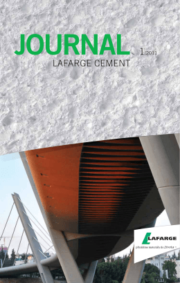 journal 1/2011 - Lafarge Cement a.s.