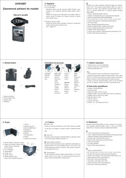 DVR30BT Záznamové zařízení do vozidel