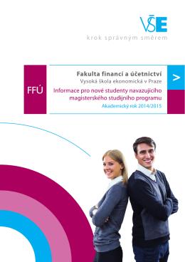 2014/2015 - Fakulta financí a účetnictví Vysoké školy ekonomické v