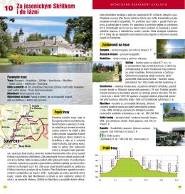popis cyklotrasy - Olomouc region Card