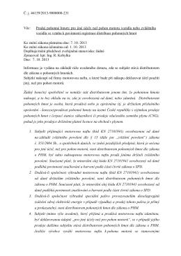 Č. j. 46159/2013-9000000-231 Věc: Prodej pohonné hmoty