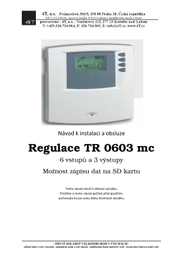Regulace TR 0603 mc