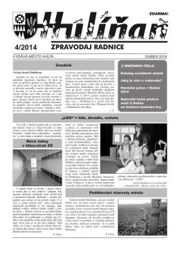 Hulíňan č. 4/2014