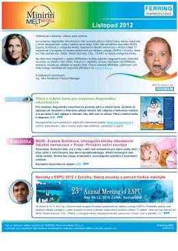 Pitná a mikční karta pro snadnou diagnostiku inkontinence