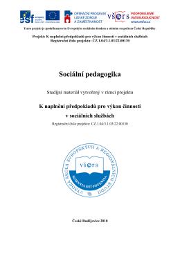 Sociální pedagogika