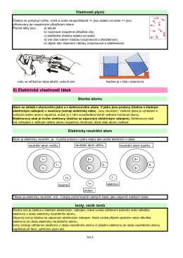 6) Elektrické vlastnosti látek