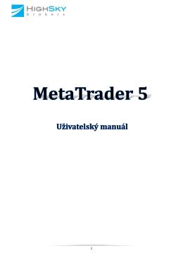 2. Pracovní prostředí v obchodní aplikaci MetaTrader 5
