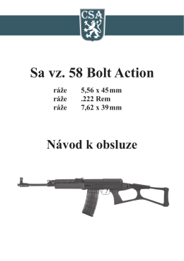 Sa vz. 58 Bolt Action