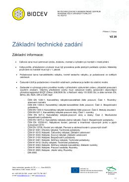 Příloha č. 2 - Technické řešení nábytku - základní zadání