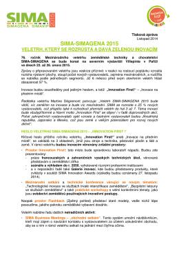 SIMA-SIMAGENA 2015 - Francouzske veletrhy