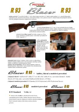 Blaser pušky řady R93 MO2013