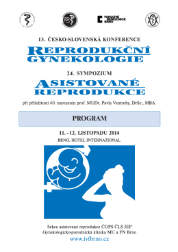 Program konference SAR ČGPS 2014