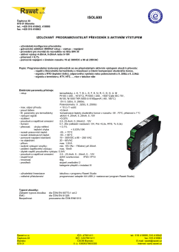 ISOL600 - Rawet sro
