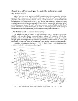 Bezdotykové měření teploty povrchu materiálu na horkém pozadí