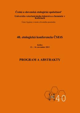 Zborník z 40. konferencie ČSEtS, Košice, Slovensko