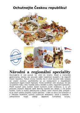 Národní a regionální speciality