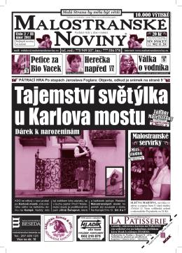 Zdena Hadrbolcová - Malostranské noviny