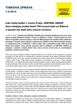 Tisková zpráva 1.9.2014