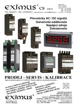 Převodníky elektrických veličin řad ACN,PXN