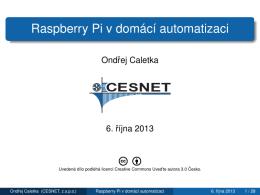Raspberry Pi v domácí automatizaci