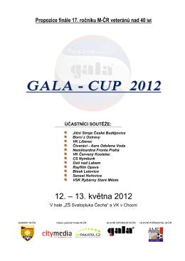 GALA - CUP 2012 - Volejbal Česká Třebová