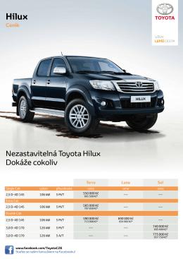 Nezastavitelná Toyota Hilux Dokáže cokoliv
