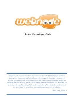Školení Webnode pro učitele