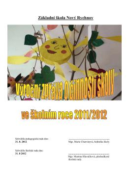 Výroční zpráva - ZŠ Nový Rychnov