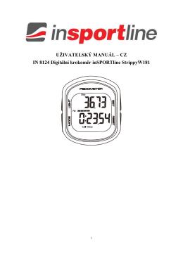 CZ IN 8124 Digitální krokoměr inSPORTline StrippyW181