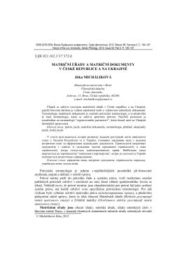 УДК 821.162.3`37`373.6 MATRIČNÍ ÚŘADY A MATRIČNÍ