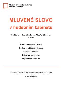MLUVENÉ SLOVO - Studijní a vědecká knihovna plzeňského kraje