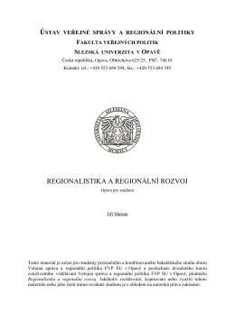 ústav veřejné správy a regionální politiky fakulta veřejných politik
