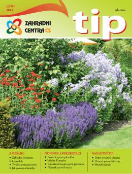 TIP Léto 2013 - Zahradní centra CS, obchodní družstvo