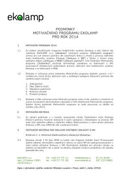 Motivační program EKOLAMP od 2014-01