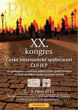 XX. kongres České internistické společnosti ČLS JEP