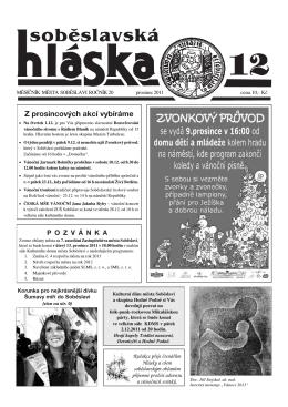 prosinec 2011 - Město Soběslav