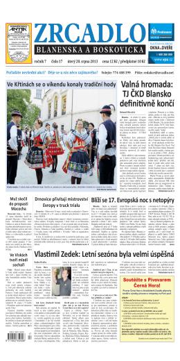 stáhnout - Zrcadlo Blanenska a Boskovicka