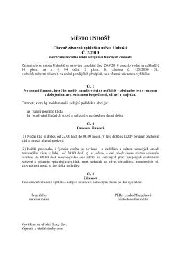 OZV č. 2 - regulace hluku