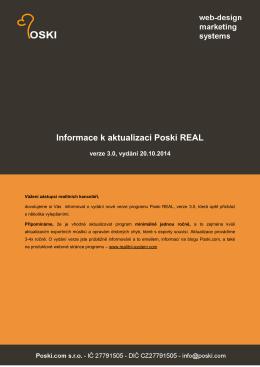 zobrazit seznam změn v Poski REAL (verze 3.0)