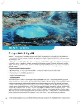 Strana 54-67 Rozpuštěný kyslík