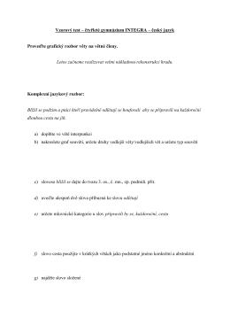 Přijímací zkoušky na čtyřleté gymnázium – český jazyk